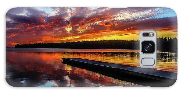 Clear Lake At Sunset. Riding Mountain National Park, Manitoba, Canada. Galaxy Case
