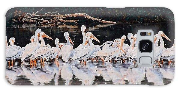 Clear Lake Pelicans Galaxy Case