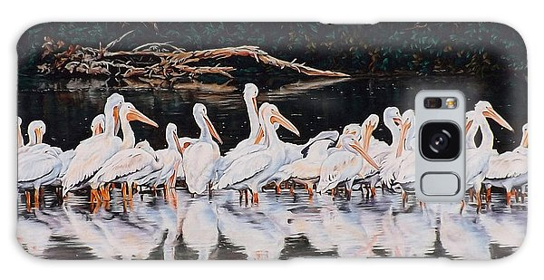 Clear Lake Pelicans Galaxy Case