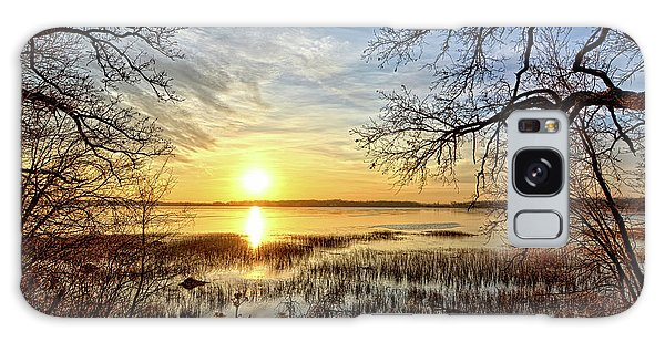 Galaxy Case - Clear Lake Sunrise 3 by Bonfire Photography