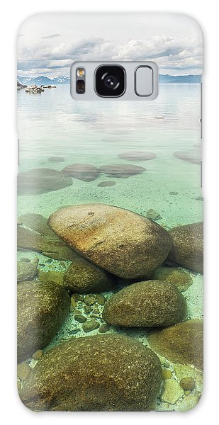 Clear Water, Stormy Sky Galaxy Case