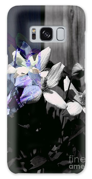 Clematis 2 Shades Of Grey Galaxy Case