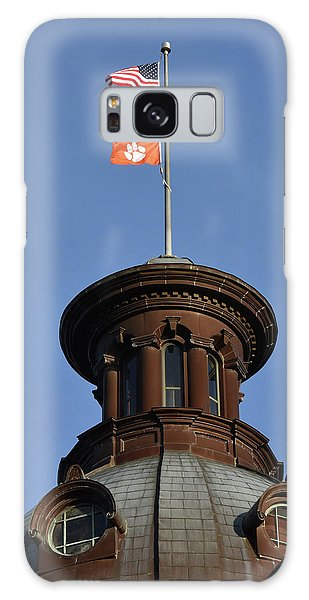 Clemson Galaxy Case - Clemson Flag At State House by Rob Thompson