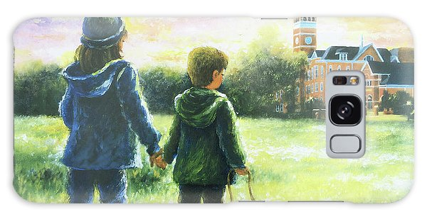 Clemson Galaxy Case - Clemson Kids Big Sister Little Brother by Vickie Wade