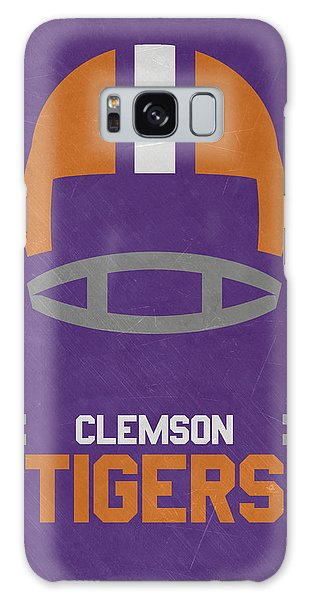 Clemson Galaxy Case - Clemson Tigers Vintage Football Art by Joe Hamilton