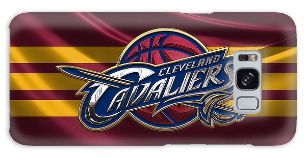 Cleveland Cavaliers - 3 D Badge Over Flag Galaxy Case