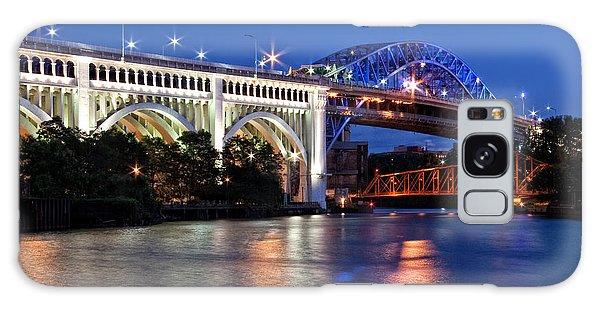 Cleveland Colored Bridges Galaxy Case
