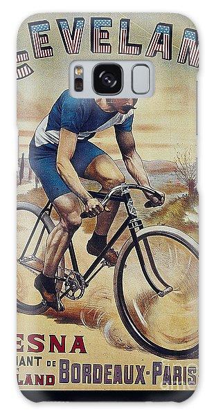 Cleveland Lesna Cleveland Gagnant Bordeaux Paris 1901 Vintage Cycle Poster Galaxy Case