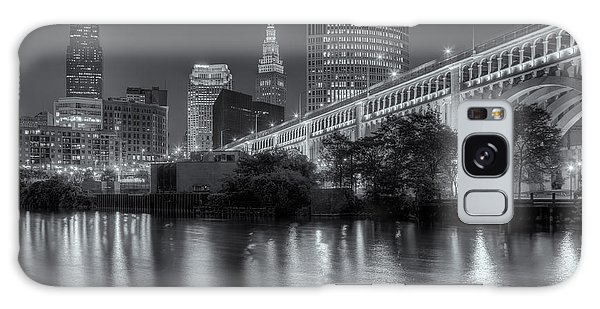 Cleveland Night Skyline IIi Galaxy Case by Clarence Holmes