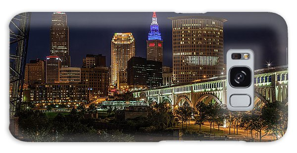 Cleveland Nightscape Galaxy Case