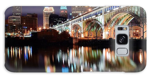 Cleveland Ohio Skyline Galaxy Case by Frozen in Time Fine Art Photography
