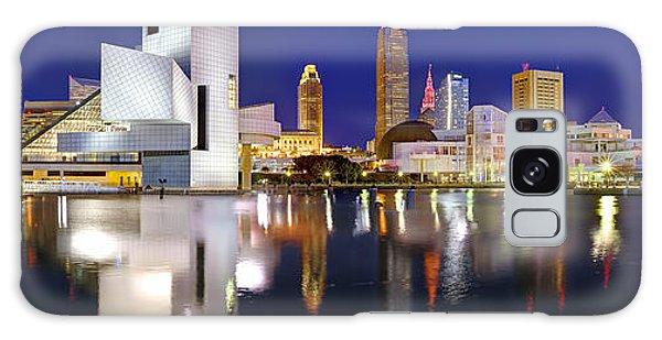 Cleveland Skyline At Dusk Galaxy Case
