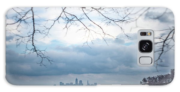 Cleveland Skyline With A Vintage Lens Galaxy Case