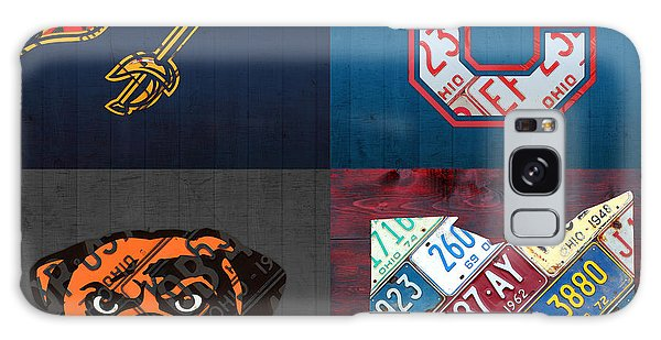 Sport Art Galaxy Case - Cleveland Sports Fan Recycled Vintage Ohio License Plate Art Cavaliers Indians Browns And State Map by Design Turnpike
