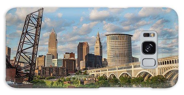 Cleveland Summer Skyline  Galaxy Case