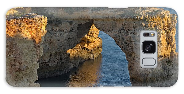 Cliff Arch In Albandeira Beach During Sunset 2 Galaxy Case by Angelo DeVal