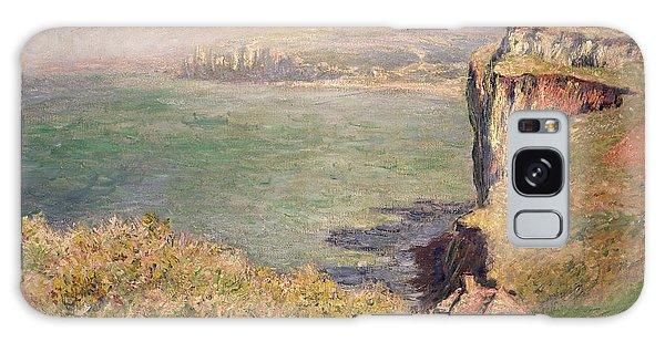 Hills Galaxy Case - Cliff At Varengeville by Claude Monet