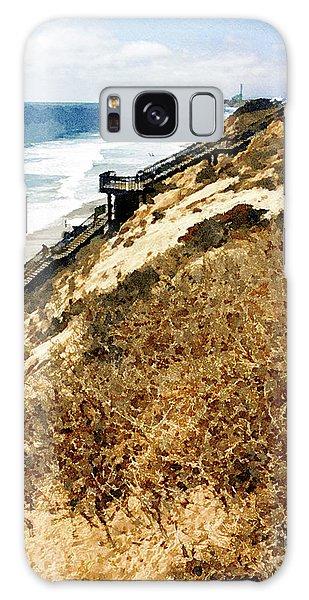 Cliff View - Carlsbad Ponto Beach Galaxy Case