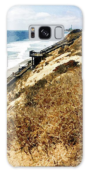 Cliff View - Carlsbad Ponto Beach Galaxy Case