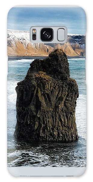 Galaxy Case featuring the photograph Cliffs And Ocean In Iceland Reynisfjara by Matthias Hauser