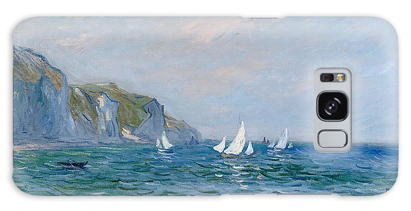Impressionism Galaxy Case - Cliffs And Sailboats At Pourville  by Claude Monet