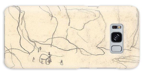 Bay Galaxy Case - Cliffs Near Pourville-varengeville by Claude Monet