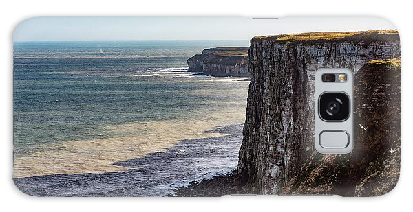 Galaxy Case featuring the photograph Cliffs Of Bempton by Anthony Baatz