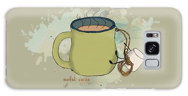 Climbing Mt Cocoa Illustrated Galaxy Case by Heather Applegate