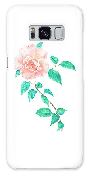 Galaxy Case featuring the painting Climbing Rose by Elizabeth Lock