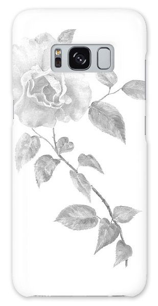 Galaxy Case featuring the painting Climbing Rose II by Elizabeth Lock