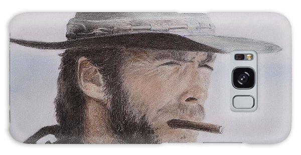 Clint Eastwood Drawing Galaxy Case by Timea Mazug