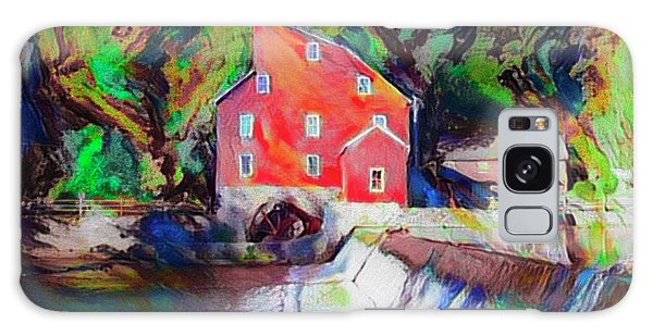 Clinton New Jersey -the Red Mill  On The Raritan River  Watercol Galaxy Case by Bill Cannon