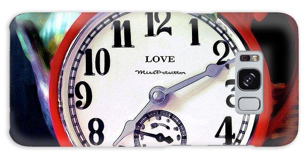 Clock In The Garden  4 Galaxy Case
