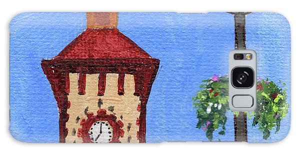 Clock Galaxy Case - Clock Tower Impressionistic Landscape Xxxvii by Irina Sztukowski
