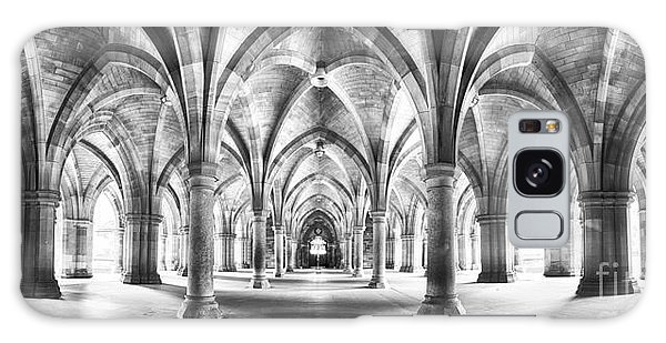 Cloister Black And White Panorama Galaxy Case