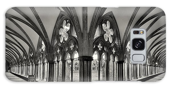 Cloisters Of Salisbury Cathedral England  Galaxy Case by Shirley Mitchell