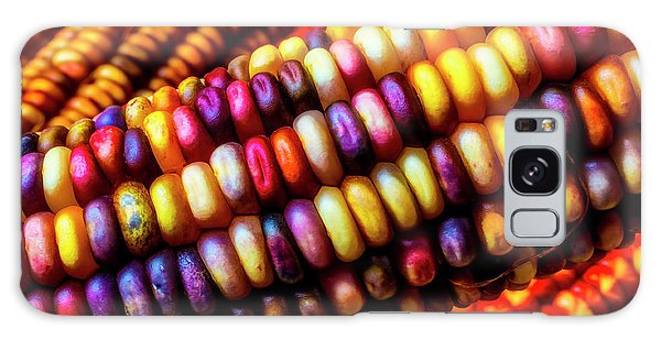 Indian Corn Galaxy Case - Close Up Indian Corn by Garry Gay