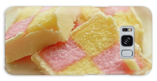 Close Up Of Battenberg Cake E Galaxy Case