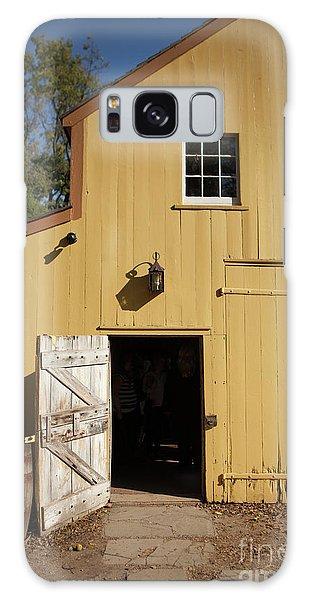 Close Up Of Landis Valley Yellow Barn Galaxy Case