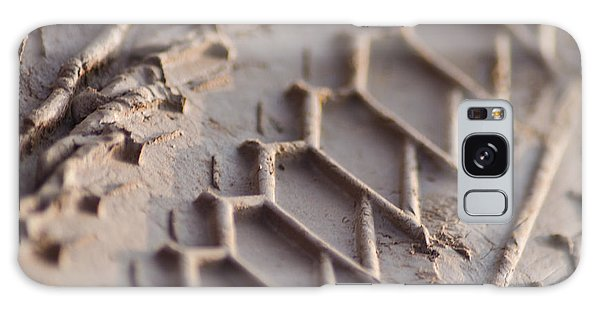 Close Up Of Motorcycle Tread Pattern On Muddy Trail Galaxy Case