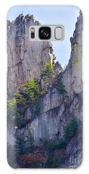 Close-up Of Seneca Rocks Top Edge Galaxy Case