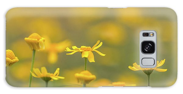 Close Up Of Yellow Flower With Blur Background Galaxy Case