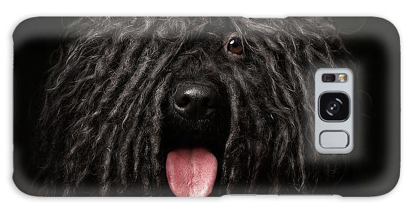Close Up Portrait Of Puli Dog Isolated On Black Galaxy Case