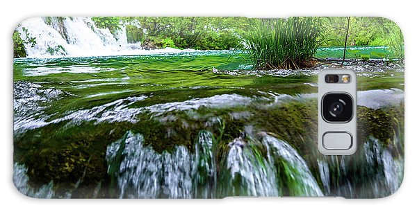 Close Up Waterfalls - Plitvice Lakes National Park, Croatia Galaxy Case