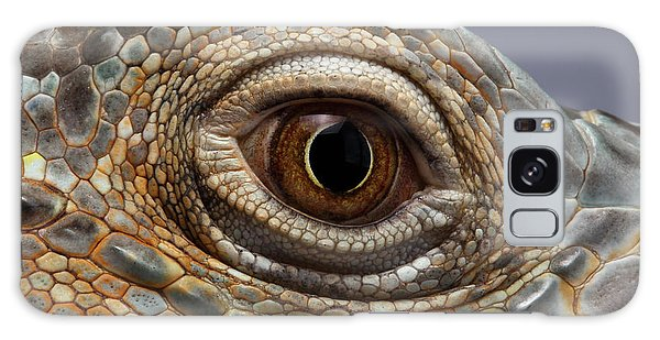 Closeup Eye Of Green Iguana Galaxy Case