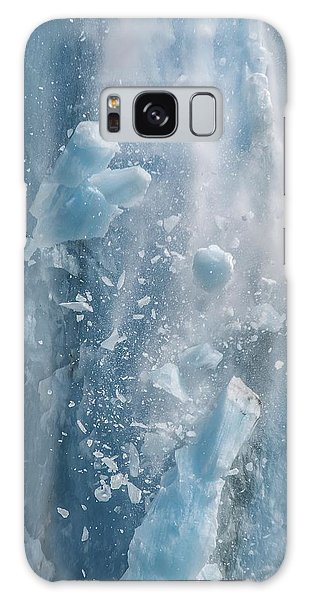 Closeup Of Dawes Glacier Calving Galaxy Case