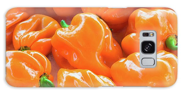 Closeup Of Fresh Chillies Habanero Orange Galaxy Case