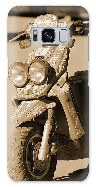 Closeup Of Jesus Scooter In Sepia Galaxy Case