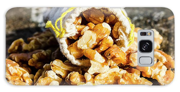 Natural Galaxy Case - Closeup Of Walnuts Spilling From Small Bag by Jorgo Photography - Wall Art Gallery