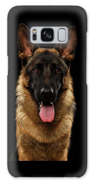 Dog Galaxy S8 Case - Closeup Portrait Of German Shepherd On Black  by Sergey Taran